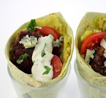 Lentil Patty Lavash Wrap