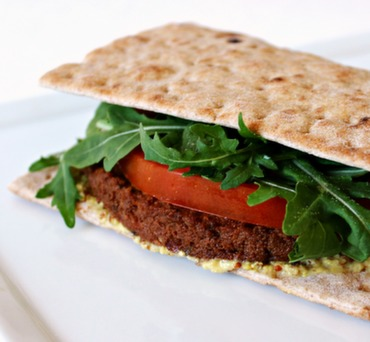 Vegan Burger on Lavash