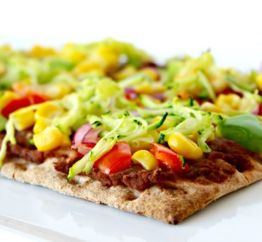 Vegan Southwest Lavash Pizza