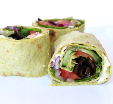 Veggie and Cream Cheese Lavash Wrap