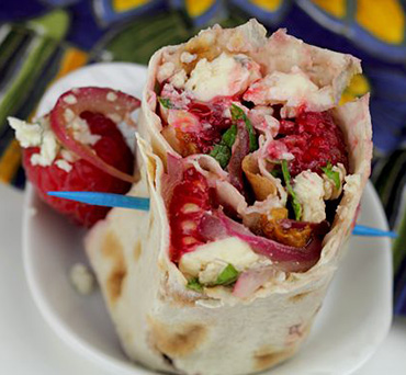 Raspberry Cheese Lavash Pinwheels