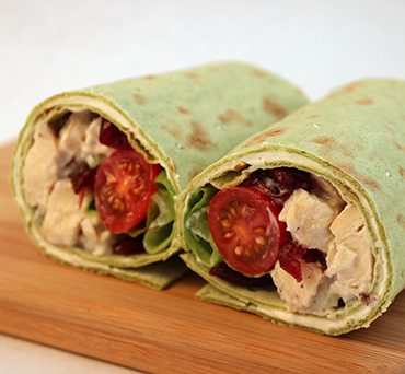 Greek Yogurt Chicken Salad Lavash Wrap