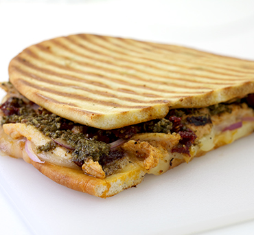 Chicken Pesto Naan Panini