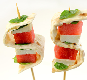 Watermelon Mint Lavash Bites