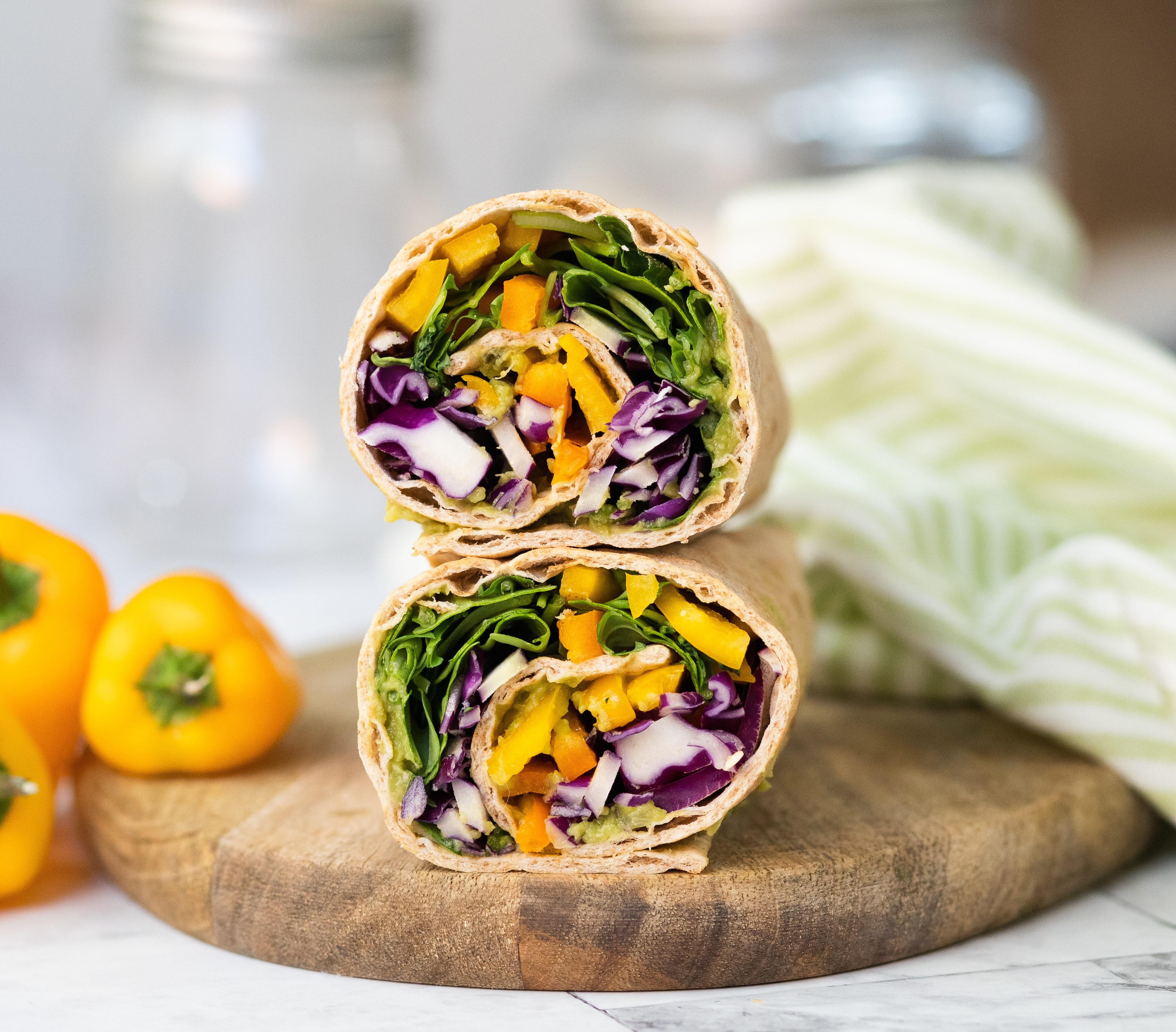 Avocado Veggie Lavash Wrap