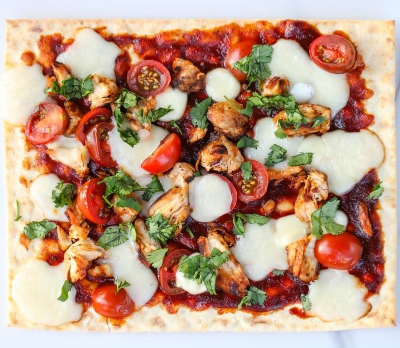 BBQ Chicken Lavash Pizza