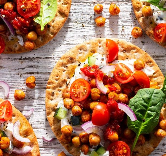 Chickpea and Tzatziki Lavash